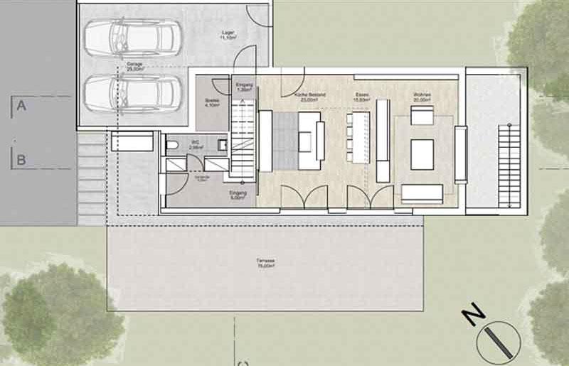 HW16 - Neubau eines Einfamilienhauses mit Doppelgarage