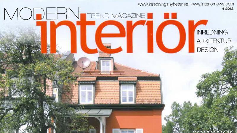 Veröffentlichung: Oktober 2012 T85 - Veröffentlichung auf Modern Interior Schweden Ausgabe 4/2012