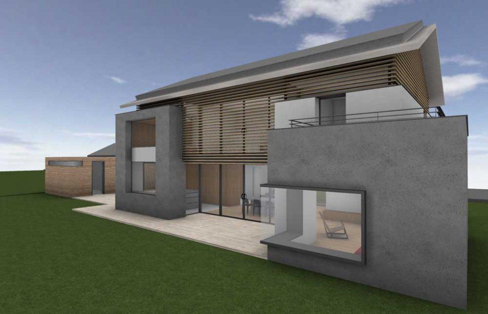 G18 neubau eines wohnhauses in breitbrunn stuart stadler architekten vfa - Stadler architekten ...